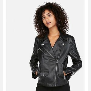 Express Other - Nude pink leather jacket.